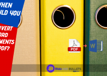 When should you convert word documents to pdf
